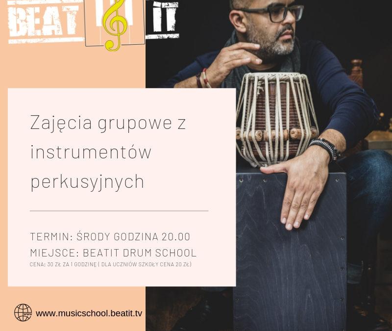 Cotygodniowe warsztaty grupowe z gry na instrumentach perkusyjnych
