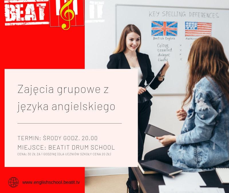 Zajęcia grupowe z j. angielskiego